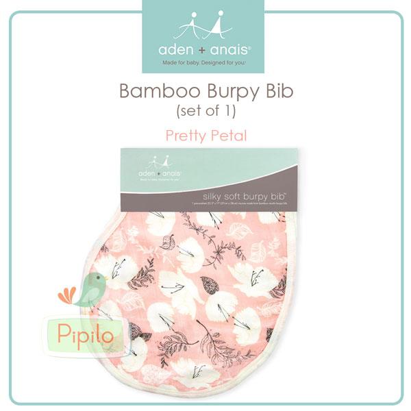 aden anais silky soft burpy bib pretty petals